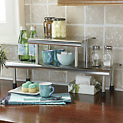 Brushed Stainless Steel Shelves