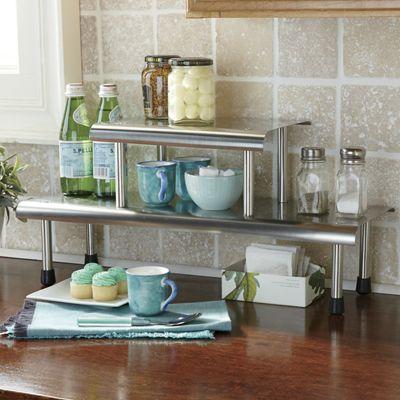 Brushed Stainless Steel Shelves