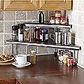 Brushed Stainless Steel Corner Shelf
