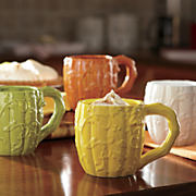 set of 4 harvest ceramic mugs