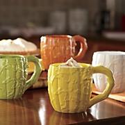 set of 4 harvest ceramic mugs