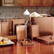 5 pc  coppertone canister   breadbox set