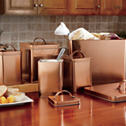 5-Piece Coppertone Canister & Breadbox Set