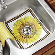 sunflower sink mat