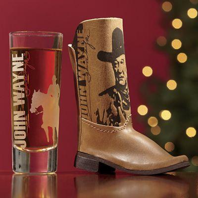 John Wayne Boot Shot Glass Set