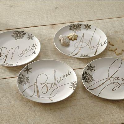 Set of 4 Paula Deen Sentiment Plates