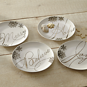 set of 4 paula deen sentiment plates