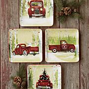 Set of 4 Christmas Vacation Plates