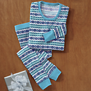 women s 2 pc  fairisle thermal set