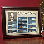 lincoln penny historic display