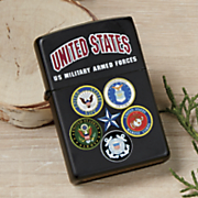 zippo lighter   u s  armed forces