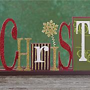 christmas cutout shelf sign