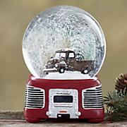 truck musical water globe