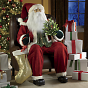 lifesize musical santa inflatable