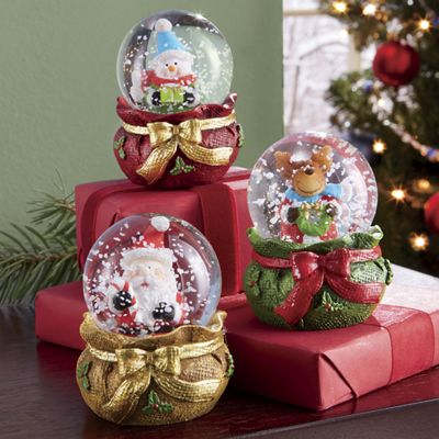 3-Piece Christmas Mini Globes Set
