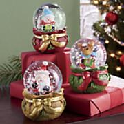 3 pc  christmas mini globes set
