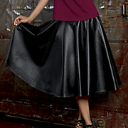 Garbo Faux-Leather Skirt