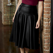 garbo faux leather skirt