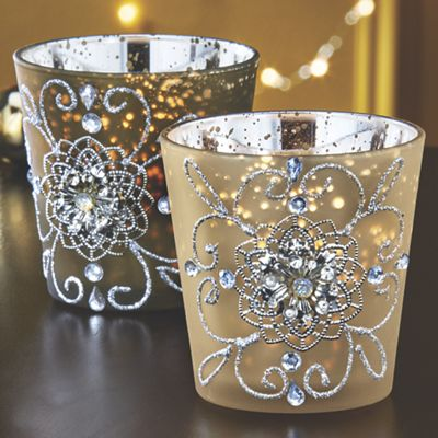 Set of 2 Gilded Lights Votives