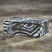 Black Faux Agate Jewelry Box