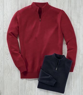 Men's Classic Fit 1/4-Zip Sweater