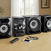 mini home stereo system with bluetooth by sony