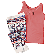 women s 2 pc  early to bed pj set