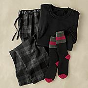 caleb 3 pc  loungewear set with socks