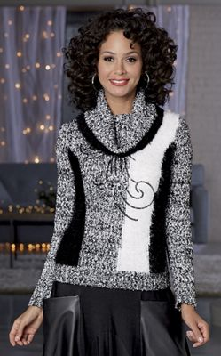 Sequin Scroll Sweater
