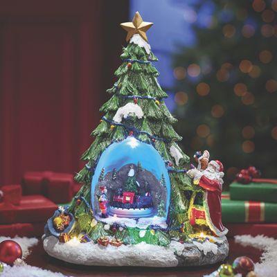 Musical Lighted Christmas Tree Globe