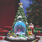 musical lighted christmas tree globe