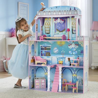 2-In-1 Fantasy Dollhouse with Furniture