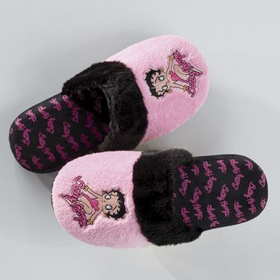 Betty Boop Hot Pink Slippers