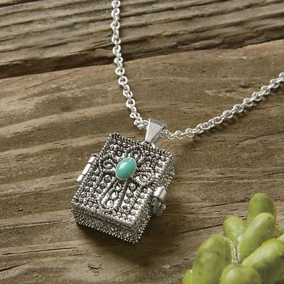 Lord's Prayer Box Necklace