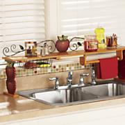 apple over the sink shelf