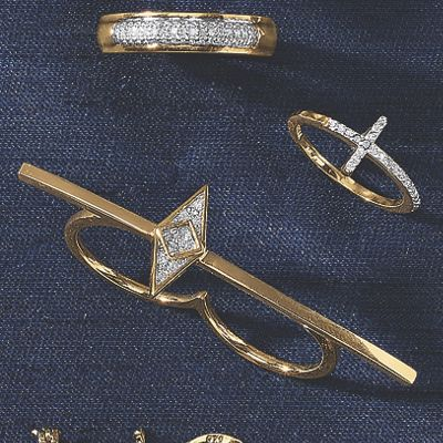 Diamond 2-Finger Ring