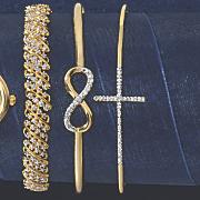 diamond flexible bangle