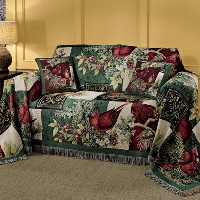 Winter Cardinal Furniture Throw by Susan Winget