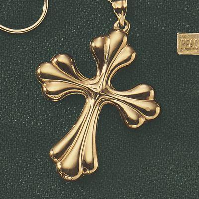10K Gold Cross Pendant