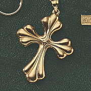10k gold cross pendant 194