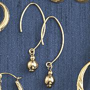 14k gold bead earrings