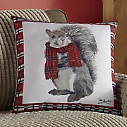 cozy squirrel pillow
