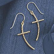 10k gold cross earrings