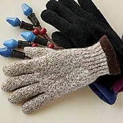 men s ragg wool knit fleece lined glove
