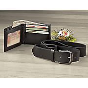 men s belt and wallet set by steve harvey