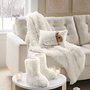 Faux Mongolian Fur Booties and Throw