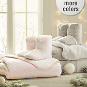 sherpa throw and women s bootie set