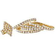 5 pc  crystal stretch bracelet set 1