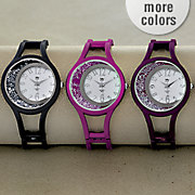crystal hinge cuff color watch