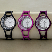Crystal Hinge-Cuff Color Watch